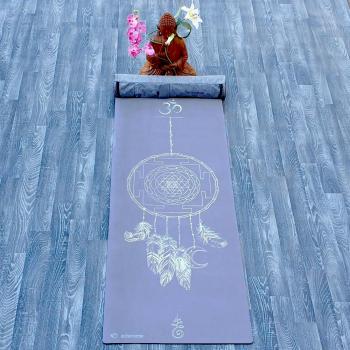 Tapis yoga latex & Suede Sri yantra +Sac