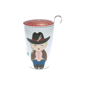 "Tasse à thé ""Little Cowgirl"" 350 ml"