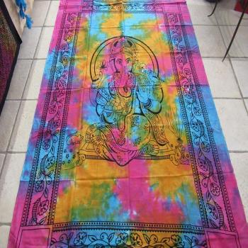 Tenture indienne Ganesh multicolore