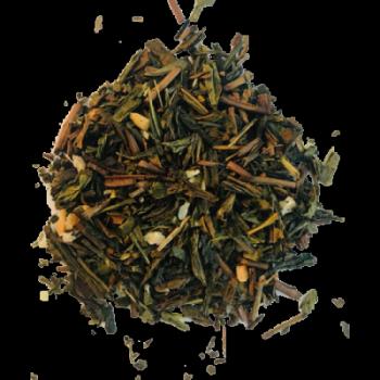 Thé vert vanille et noix Bio