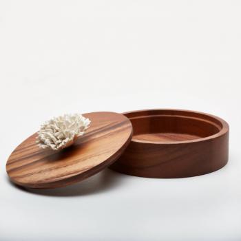 Boite en bois et céramique THUAN