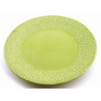 "Assiette ""prairie"" vert"