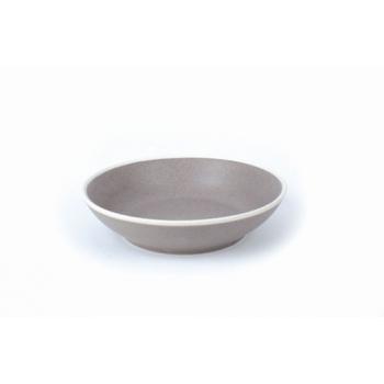 Assiette creuse pure gris 19cm