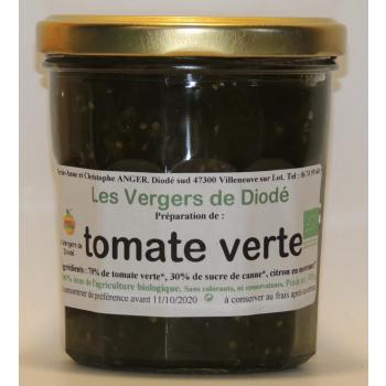 tomate verte et sucre de canne