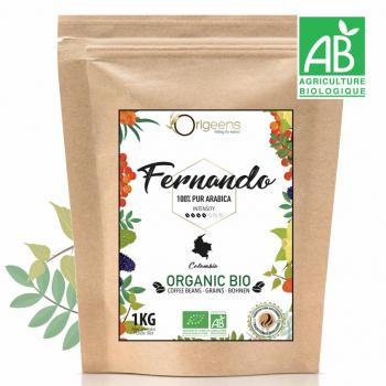 Fernando - Café Grain Bio 1kg - Single Origin Colombie 100% Arabica - Torréfaction Artisanale
