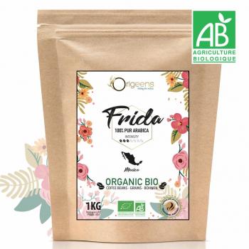Frida - Café Grain Bio 1kg - Single Origin Mexique - 100% Arabica - Torréfaction Artisanale