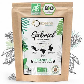 CAFE GRAIN BIO 1kg - Café en Grain Arabica - Torréfaction Artisanale - Gabriel
