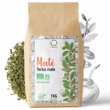 YERBA MATE BIO 1KG Grade Supérieur - Non Torréfié, Feuilles, Sans Tige et Non Poudreux - Boisson Energie et Detox