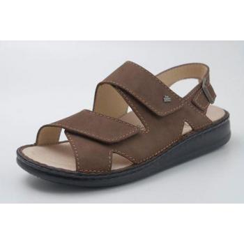 FINN COMFORT Sandale Classic-Soft Brun talon 12 mm chaussant large