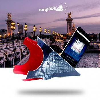 AMPLILIB l'enceinte écologique - Made in France - Modèle Pyramide