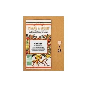 Tisane à sucer Biopastille Cassis / Mandarine
