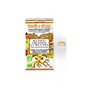 Tisane à sucer Biopastille Kudzu Orange Curcuma