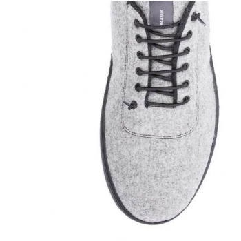 Baskets SNEAKERS 100% laine Urban Wooler GRIS CLAIR unisexe