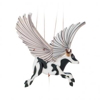 Mobile artisanal  vache issu du commerce équitable