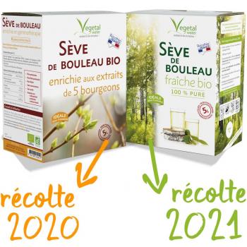 Pack Seve de Bouleau Enrichie récolte 2020 + PRECOMMANDE FRAICHE récolte 2021 -Ports offerts-