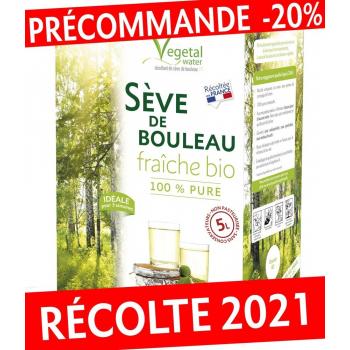 PRECOMMANDE SEVE DE BOULEAU FRAICHE BIO -5 Litres non pasteurisée- RECOLTE 2021