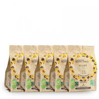 Espresso Monte-Carlo - PACK 100% VELOURS - 50 capsules biodégradables et compatibles Nespresso