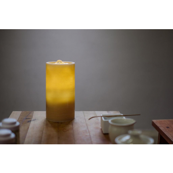 Bougie fontaine aquazen 16 cm cire brossé couleur miel