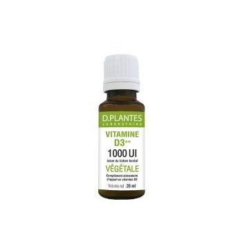 Vitamine D3++ Végétale 1000 UI - D.Plantes