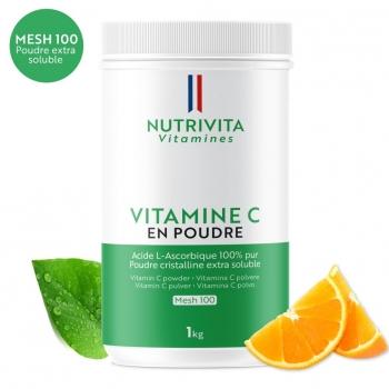 Vitamine C en poudre - Acide L(+) Ascorbique - Pot 1kg