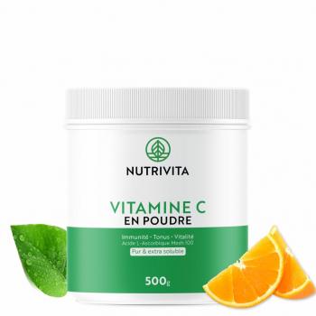 Vitamine C pure en poudre - Acide L(+) Ascorbique - 500g