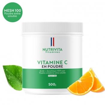 Vitamine C en poudre - Acide L(+) Ascorbique - Pot 500g