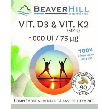 Vit D3 & Vit K2 (MK-7) - 90 gélules / 3 mois