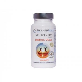 Vitamine D3 - 2000 UI et Vitamine K2 - 75 µg - IMMUNITE