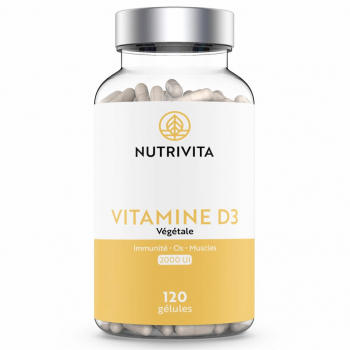 Vitamine D3 1000UI - 120 gélules