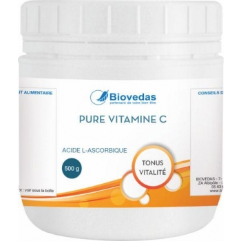 PURE VITAMINE C - Biovedas - Acide L-ascorbique 500 gr
