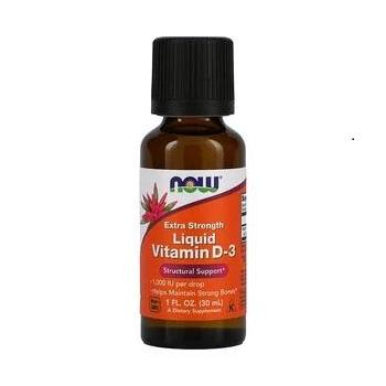 Vitamine D3 liquide, Extrapuissante, 1000 UI, 30 ml