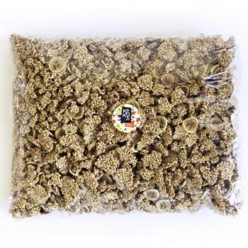 Muesli croustillant bio Banane Vanille (Granola) avec de véritables morceaux de fruits séchés - 5kg Vrac