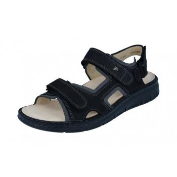 FINN COMFORT Sandale Classic-Soft Noir talon 12 mm chaussant large