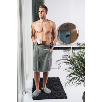 LUIN LIVING - Pareo pour homme 60x150 cm GRANITE