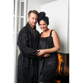 Robe spa black salon