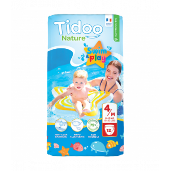 Couches Swim & Play 4M/8-15kg - 12 pièces - Tidoo Nature