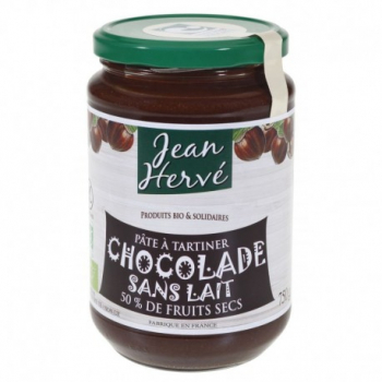 Pâte à tartiner Chocolade Sans Lait - 750g - Jean Herve