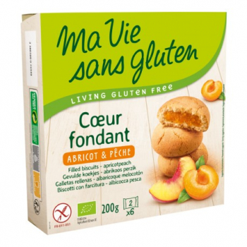 Coeur Fondant Abricot & Pêche - 200g - Ma Vie Sans Gluten