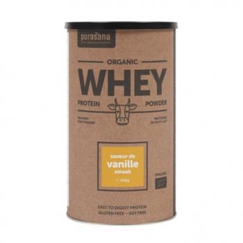 Protéine Whey Vanille - 400g - Purasana