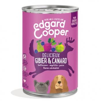 Boîte Chien Gibier & Canard - 400g - Edgard Cooper