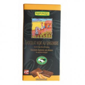 Chocolat Noir Gingembre Végan - 80g - Rapunzel