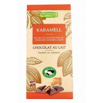 Chocolat au Lait fourré Caramel - 100g - Rapunzel
