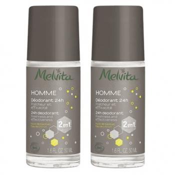 Duo Déodorant 24H Homme - 2x50ml - Melvita
