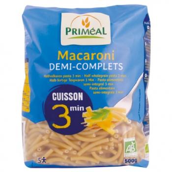 Macaroni Demi-Complet Cuisson Rapide - 500g - Priméal