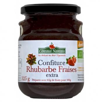 Confiture Rhubarbe Fraises - 325g - Côteaux Nantais