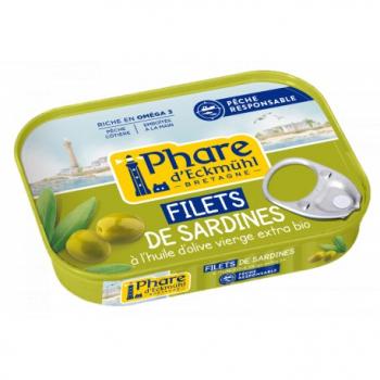 Filets de Sardines à l'Huile d'Olive Bio - 100g - Phare d'Eckmühl