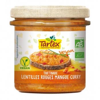 Tartinade Lentilles Rouges Mangue Curry - 140g - Tartex