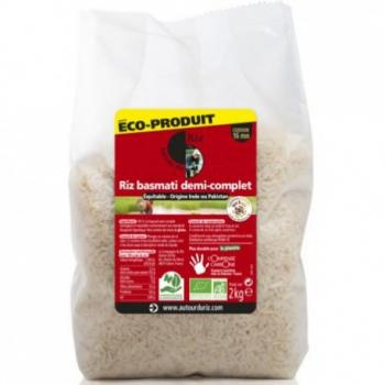 Riz Basmati Semi-Complet - 2kg - Autour Du Riz