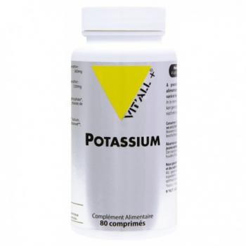 Potassium 200mg - 80 Gélules Végétales - Vit'All+
