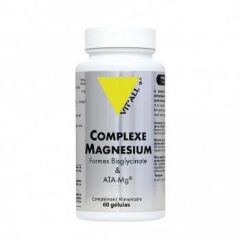 Complexe Magnesium Bisglycinate - 60 Gélules Végétale - Vit'All+